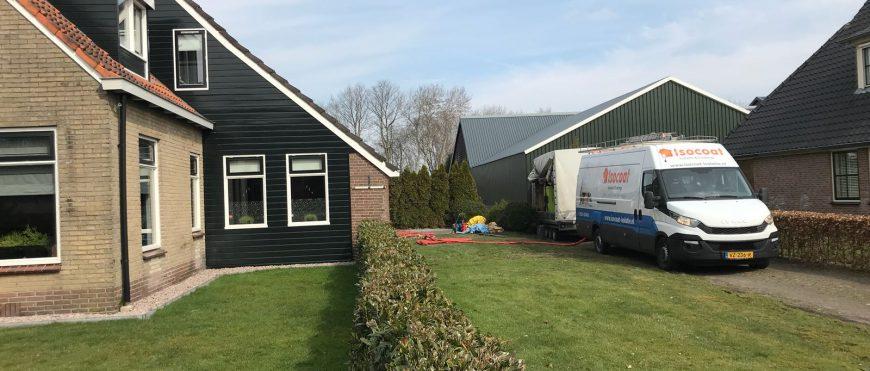 Woonboerderij in Vledder geïsoleerd.