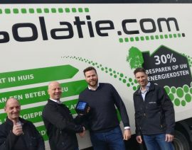 Isolatie.com B.V.wintde GOLDEN AWARD 2017.