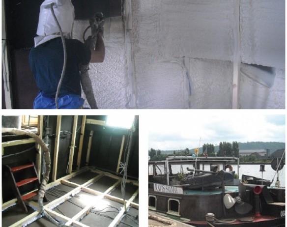 Isolatie van een binnenschip: Navis Salviae, België
