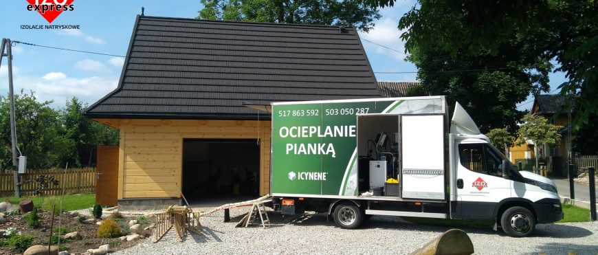 Ocieplenie garażu drewnianego pianką PUR