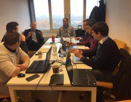 Встреча сотрудников Icynene в Брюсселе.